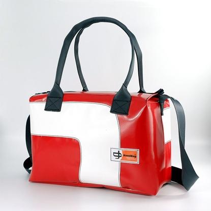 Blixen rossa curva bianca, bauletto Handbag