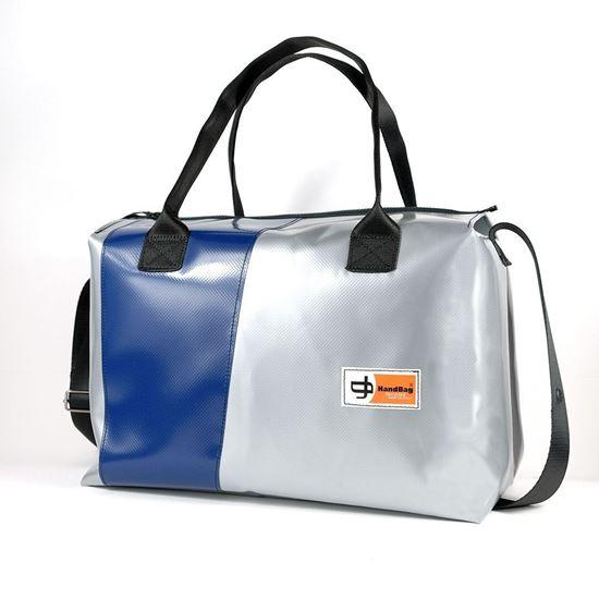 Blixen Maxi argento diagonale blu, HandBag viaggio, sport