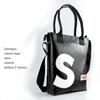 Shopper Banana nera lettera S bianca, borsa personalizzata, HandBag