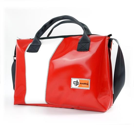 Hemingway rossa diagonale bianca, porta pc, cartella lavoro, HandBag