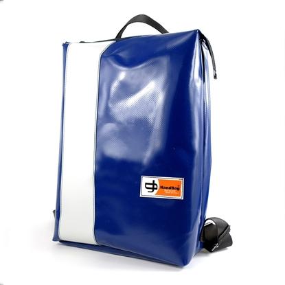 Conrad blu banda bianca handbag zaino