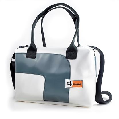 Blixen bianca curva grigia handbag bauletto