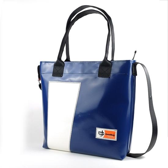 Banana blu diagonale bianca handbag Shopper