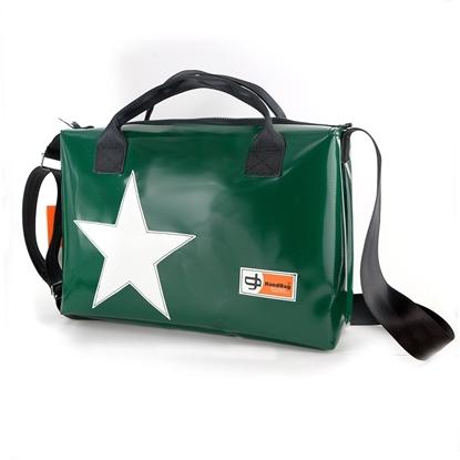 Hemingway verde scuro stella bianca porta pc 24 ore cartella handbag