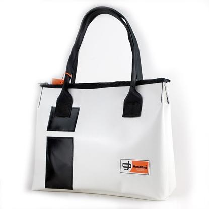 Vargas bianca rettangoli neri, HandBag, borsa da donna