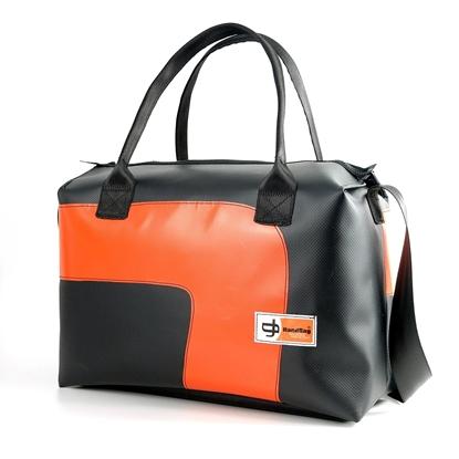Blixen Maxi nera curva arancione, Bauletto HandBag