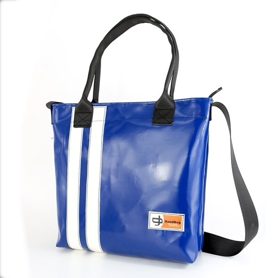 Banana blu chiaro due righe bianco handbag Shopper