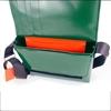 Guareschi media verde scuro due righe bianco, messenger ,HandBag