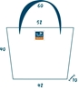 Sun's bag 42 gialla, misure, borsa mare in plastica lavabile, handbag
