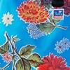 Sun's bag 42 azzurra, fiore grande, borsa mare in plastica lavabile, handbag