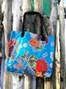 Sun's bag 42 azzurra, borsa mare in plastica lavabile, handbag