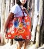Sun's bag 42 arancio, borsa mare in plastica lavabile, handbag