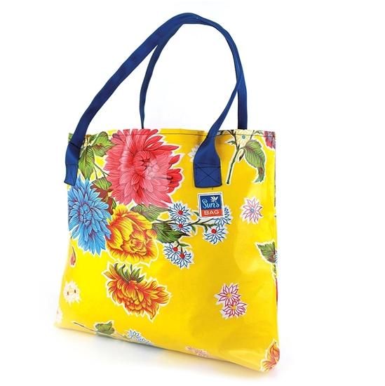 Sun's bag 42 gialla, borsa mare in plastica lavabile, handbag