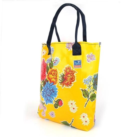 Sun's bag 42 giallo, borsa mare in plastica lavabile, handbag
