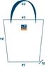 Sun's bag 35 azzurro misure, borsa mare in plastica lavabile, handbag
