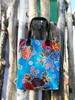 Sun's bag 35 azzurro, borsa mare in plastica lavabile, handbag
