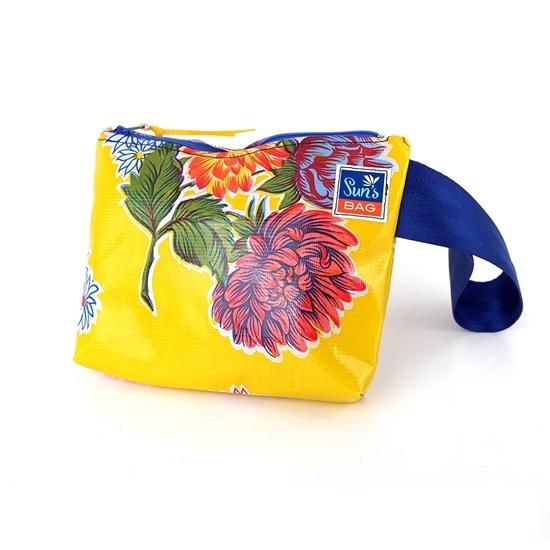 Pochette gialla, bustina mare Suns's bag bustina mare in plastica lavabile, handbag