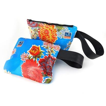 Pochette azzurro, bustina mare Suns's bag bustina mare in plastica lavabile, handbag