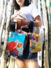 Pochette azzurra, bustina mare Suns's bag bustina mare in plastica lavabile, handbag