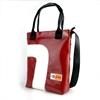 Shopper Banana Bordeaux e curva bianca borsa in pvc di riciclo handBag Castiglione di Cervia Spazio14