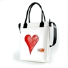 Shopper Banana bianca cuore rosso  in pvc di riciclo handBag Castiglione di Cervia Spazio14