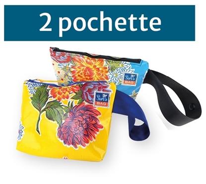 Pochette, bustina mare in tela messicana Suns's bag bustina mare in plastica lavabile, HandBag