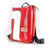 Zaino Conrad rosso curva bianca, HandBag zaino materiale riciclato Cervia