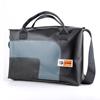 Hemingway 24 ore HandBag nera con curva antracite, borsa in materiale riciclato, Cervia, Made in Italy