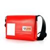 Guareschi, piccola messenger Handbag, materiale riciclato. Spazio14, Cervia