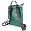 Conrad verde scuro diagonale bianca, Zaino HandBag, zaino scuola, made in Italy, plastica riciclata