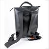 Zaino Conrad nero doppia riga bianca, HandBag zaino materiale riciclato Cervia