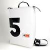 Zaino HandBag, Conrad bianco + 5 nero, zaino personalizzato
