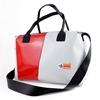 Blixen maxi Giaccio diagonale rossa, bauletto handBag, borsa mare, plastica riciclata, cinture di sicurezza, HandBag, cervia